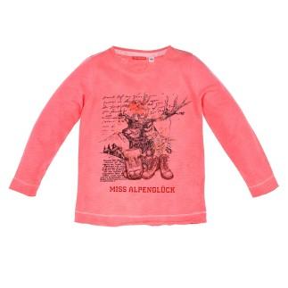 T-Shirt langarm ´Hirsch´ rose