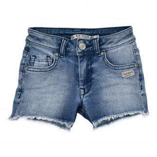 Jeansshort blue denim