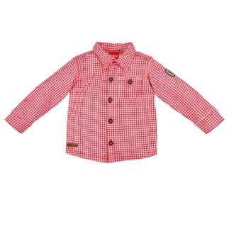 Trachtenhemd ´Alloverdruck´ karo red/white