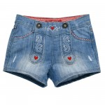 Trachten Jeansshort blue denim