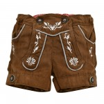 Kunstledershort light brown